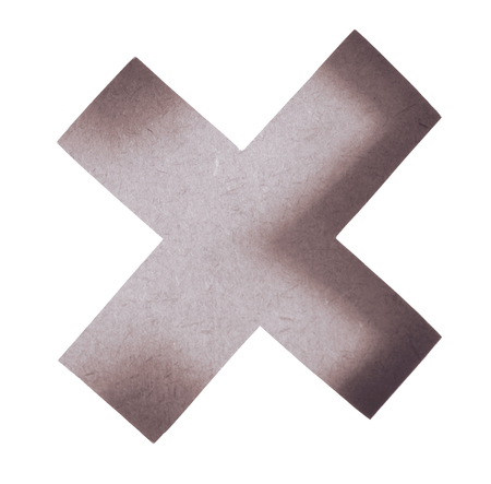 multiplicar: Blur of Delete button. Wrong mark icon, multiply icon sign. multiply icon symbol of wood texture on white background, vintage tone Foto de archivo