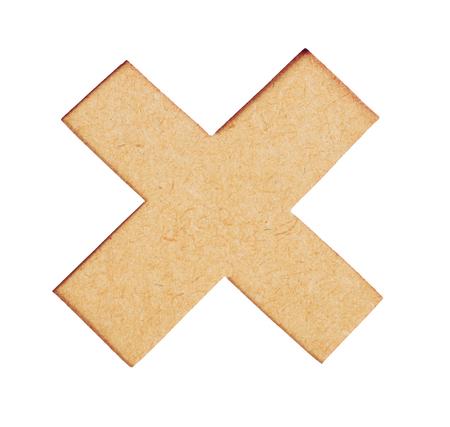multiplicar: botón de borrar. Icono de la marca equivocada, icono de la muestra se multiplican. Símbolo del icono de la textura de la madera se multiplican en el fondo blanco Foto de archivo