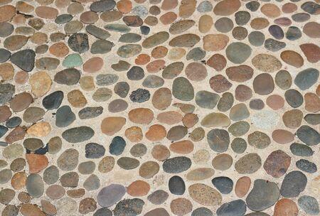 gravel: Decorative floor pattern of gravel stones, Gravel texture background