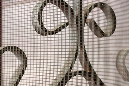 wicket door: mosquito wire screen and curved steel for home