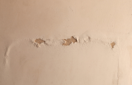 earthquake crack: Cracked concrete wall background Stock Photo