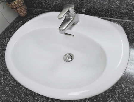modern wash basin or sink in the bathroom