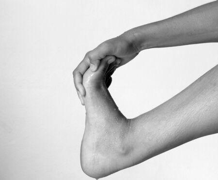 restore energy flow: Foot Pain of Woman