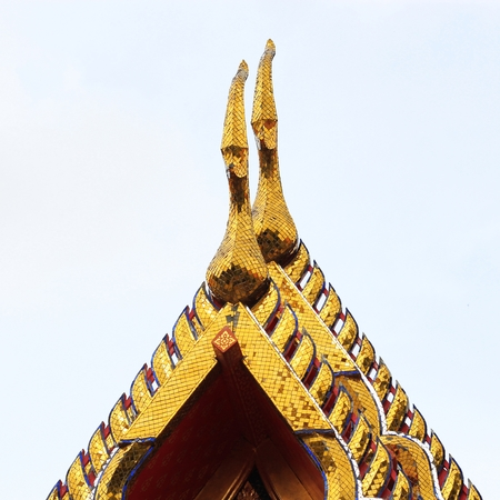 gable apex architecture of golden buddha of thailand Stock fotó