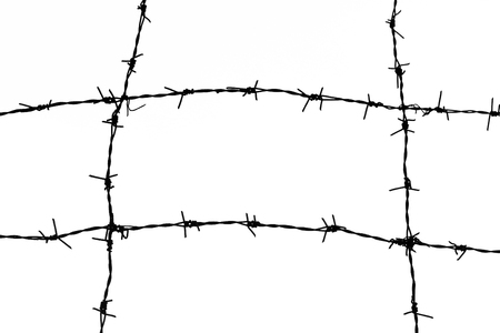 Barbed Wire, black and white tone