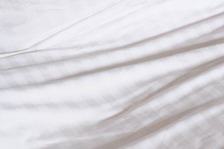 화이트 침대 시트 질감
