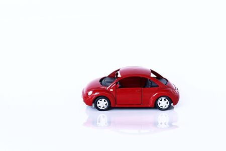 red car on white background Stock Photo