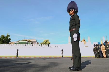 Bangkok-Thailand: October 15, 2017 Royal Thai Army to prepare for attend the funeral of King Bhumibol Adulyadej (King Rama 9) At Sanam Luang