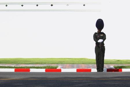 Bangkok-Thailand: October 15, 2017 Silhouette Royal Thai Army in the funeral of King Bhumibol Adulyadej (King Rama 9) At Sanam Luang