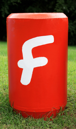 Word F : Colorful big letters of the alphabet Stock Photo