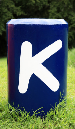 Word K : Colorful big letters of the alphabet Stock Photo