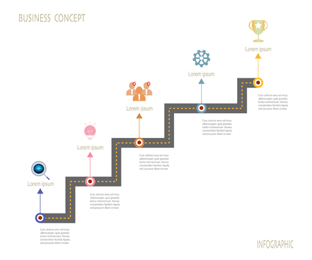 Timeline infographics template with roadmap design,vector illustration. Business concept with icon,steps or processes.Infographic element for layout process diagram.