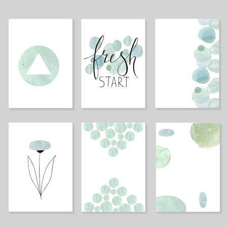 universally: Set of artistic universal cards.  Wedding, birthday, party, Valentines day, universally. Design for card, invitation, placard, poster, brochure, flyer. Vector. Hand Drawn wartercolor textures and lettering.