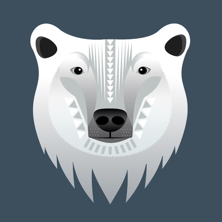Polar bears head. Vector illustration. Stock Photo