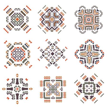 ethnicity: Vector Tribal elements. Ethnic stile. Isolated.