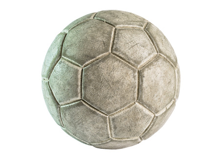 an old leather ball isolated on a white background  photo