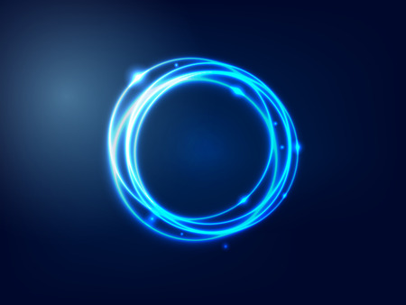 Abstract Background  Blue Glowing Circle