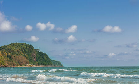 Landscape of Blue Sea and Mountain in Summer