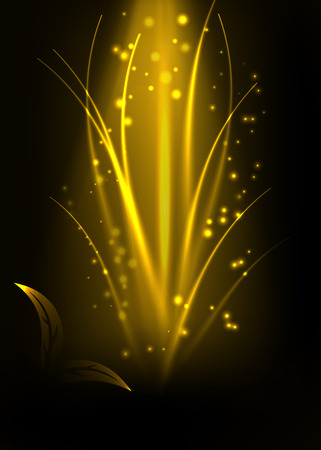 Abstract flora light effect background vector illustration