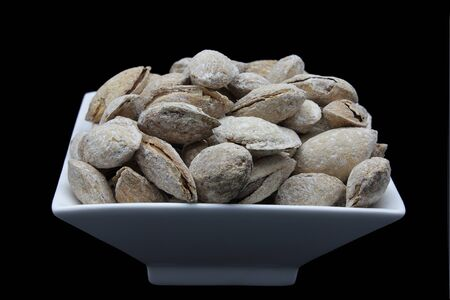 woodfired: Toasted almonds with shell in artisan wood-fired oven