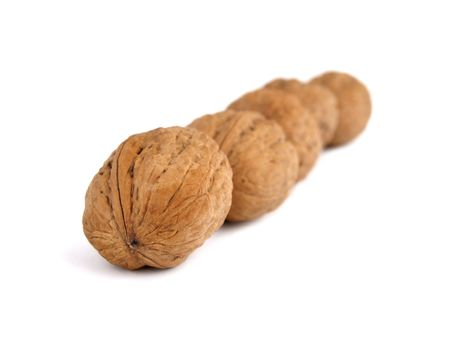 l nutrient: Nuts on a white background