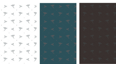 dill: set of patterns with fine particles of dill. Beautiful wrap, wallpaper, fabric, background. Illustration
