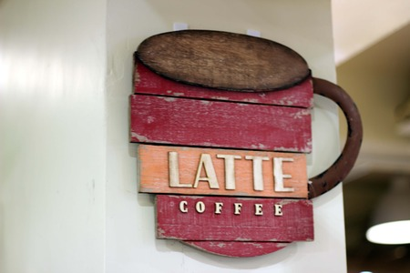 Label coffee shop
