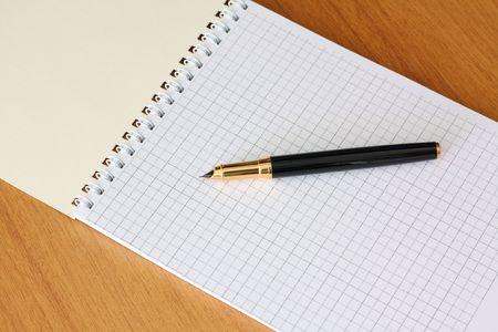 Fountain pen and diary photo