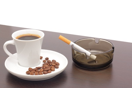 Coffee and cigarettes photo