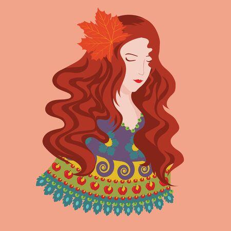 illustraton: Vector illustraton of color season. Autumn. Eps 8 Illustration