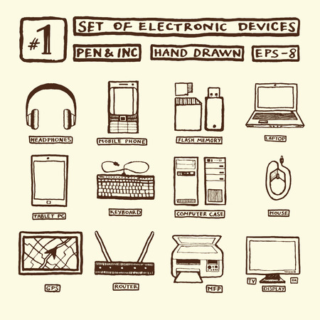 mfp: hand drawn tech icons