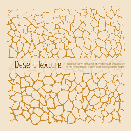 waterless: Desert texture. Brown and yellow. Hand drawn art, pen and ink Illustration