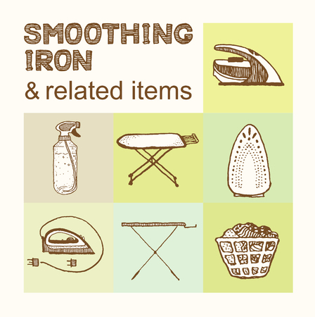 smoothing: Smoothing Iron and related items collection.