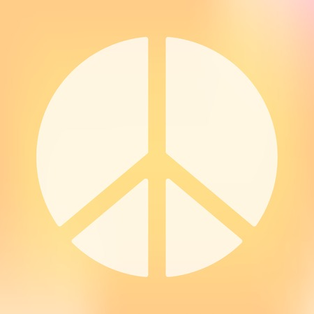 disarmament: Template of square peace symbol banner. Vector design element. Peace antiwar movement symbol. Sign of hippie, nuclear disarmament movement and peaceful world