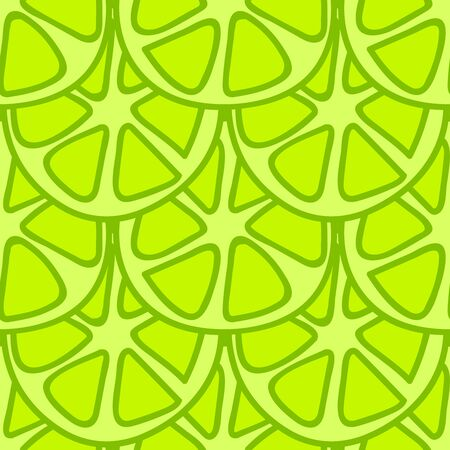 summerly: Seamless summer background. Hand drawn pattern. Suitable for fabric, greeting card, advertisement, wrapping. Bright and colorful green lime summer pattern