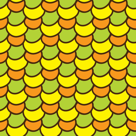 summerly: Seamless summer background. Hand drawn pattern. Suitable for fabric, greeting card, advertisement, wrapping. Bright and colorful abstract ornament multicolored corn kernels. Summer pattern of corn