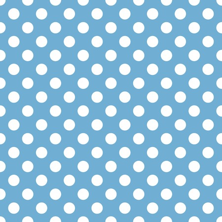 summerly: Seamless blue and white background pattern. Suitable for fabric, greeting card, advertisement, wrapping. Bright and colorful retro spotted seamless pattern