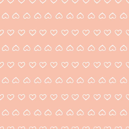 honeymoon: Small cute hearts seamless pattern. Design element for wedding greeting card, valentines day invitation, honeymoon postcard. Vintage style, hand drawn pen and ink