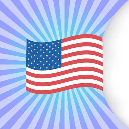 Happy Independence Day greeting card. 4th of July vector design element. Independence Day background
