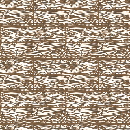chipboard: Texture of wooden boards. Seamless retro texture of the wooden floor. Vintage style, hand drawn. Brown and white.