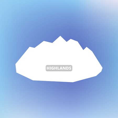 banner ads: White silhouette of mountains and blue sky. Vector background for flyer, advertising, banner, ads, poster