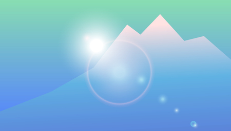 upland: Geometric mountain landscape. Vector background of mountain view. Highlands landscape, vector background for flyer, advertising, banner, ads, poster Illustration
