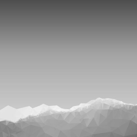 trigonal: Geometric polygonal mountain landscape. Vector background of polygonal low poly mountain view. Highlands landscape, vector background for flyer, advertising, banner, ads, poster