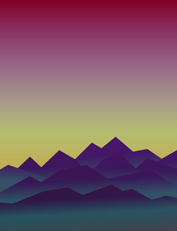 31st: Halloween vector background. Design element for October 31st poster or invitation card. Scary mountain landscape