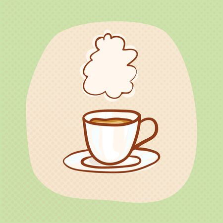 snug: Coffee sketchy vector clipart. Vector design element for invitation or greeting card. Sketch for flyer, banner, ad, package, poster. Hand drawn cup of hot Coffee icon