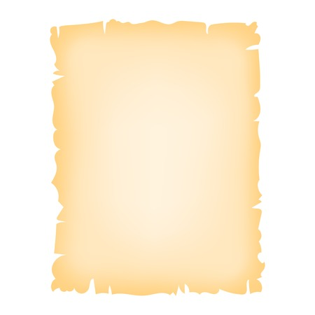 burnt edges: Old paper sheet, vector background. Vintage texture, isolated on white Illustration