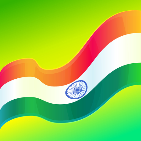 Republic Day in India, 26 January. Vector design element, background with Indian national flag