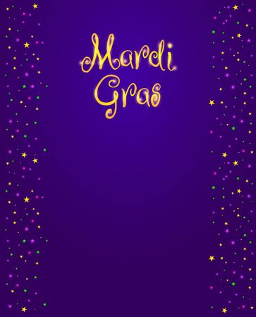 Mardi Gras Vector Design Element, Fat Tusday Poster Or Party