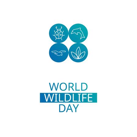 World Wildlife Day. design element. Suitable for souvenir magnet, sticker, poster, banner