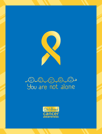 Journée internationale du cancer infantile, élément de design vectoriel. Le ruban d'or est un symbole du cancer infantile